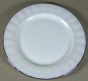 Make sure your browser can show photos and reload this page to see Gorham China Portico Bread and butter plate 6 3/8