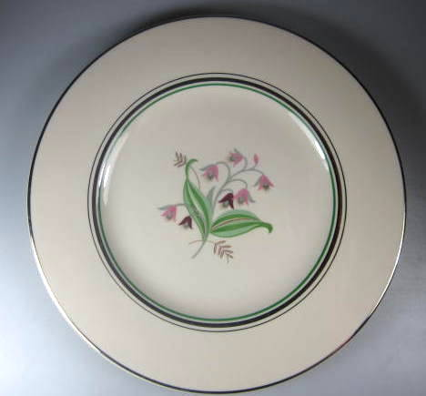 Make sure your browser can show photos and reload this page to see Syracuse China Coralbel Dinner plate (Virginia Shape) 10 1/4