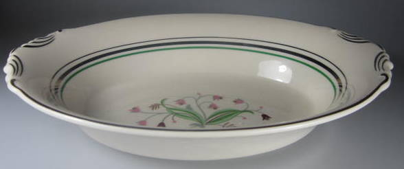 Make sure your browser can show photos and reload this page to see Syracuse China Coralbel Oval vegetable (Virginia Shape) 10 1/4
