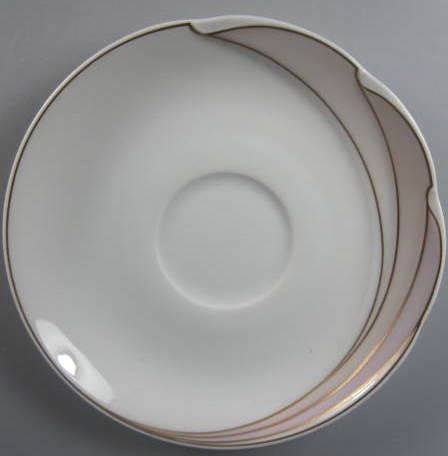 Make sure your browser can show photos and reload this page to see Hutschenreuther China En Vogue Demitasse (saucer only) 4 5/8