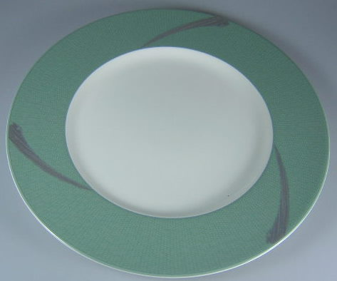 Make sure your browser can show photos and reload this page to see Noritake China Ambience Green 7969 Accent plate 9 3/4