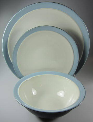 Make sure your browser can show photos and reload this page to see Noritake China Kona Indigo 8050 Place setting 3-piece dinner 10 3/4