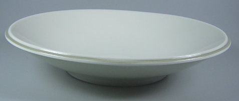 Make sure your browser can show photos and reload this page to see Lenox China Ubiquity Willow Green Coupe Soup bowl, all purpose (individual pasta bowl) 9