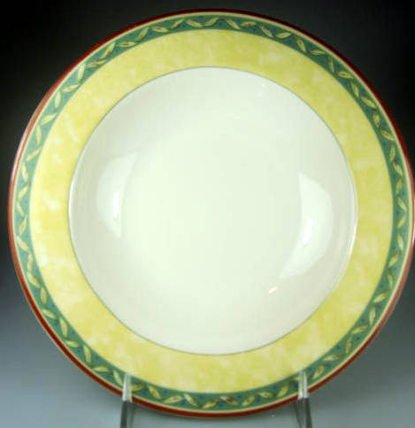 Make sure your browser can show photos and reload this page to see Interiors Dinnerware Provence Soup bowl, rim shape 9
