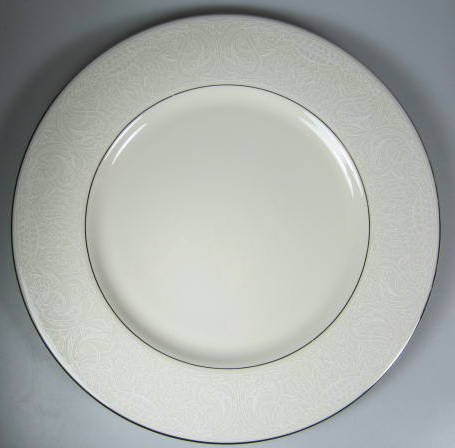 Make sure your browser can show photos and reload this page to see American Manor China Chantilly Dinner plate  10 3/4