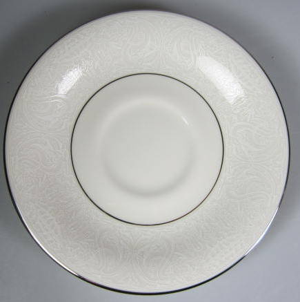 Make sure your browser can show photos and reload this page to see American Manor China Chantilly Saucer only  preowned, little use if any