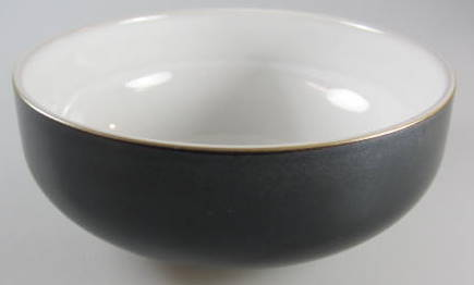 Make sure your browser can show photos and reload this page to see Denby - Langley China Jet Cereal bowl  BLACK - MATTE -  6 1/8