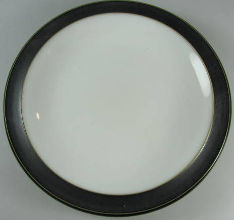 Make sure your browser can show photos and reload this page to see Denby - Langley China Jet Bread and butter plate  BLACK  7 1/4