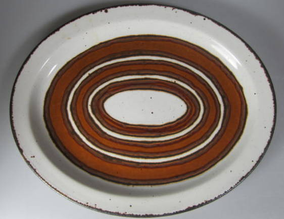 Make sure your browser can show photos and reload this page to see Midwinter Ltd., W.R. Pottery Earth Platter, small  not in original box