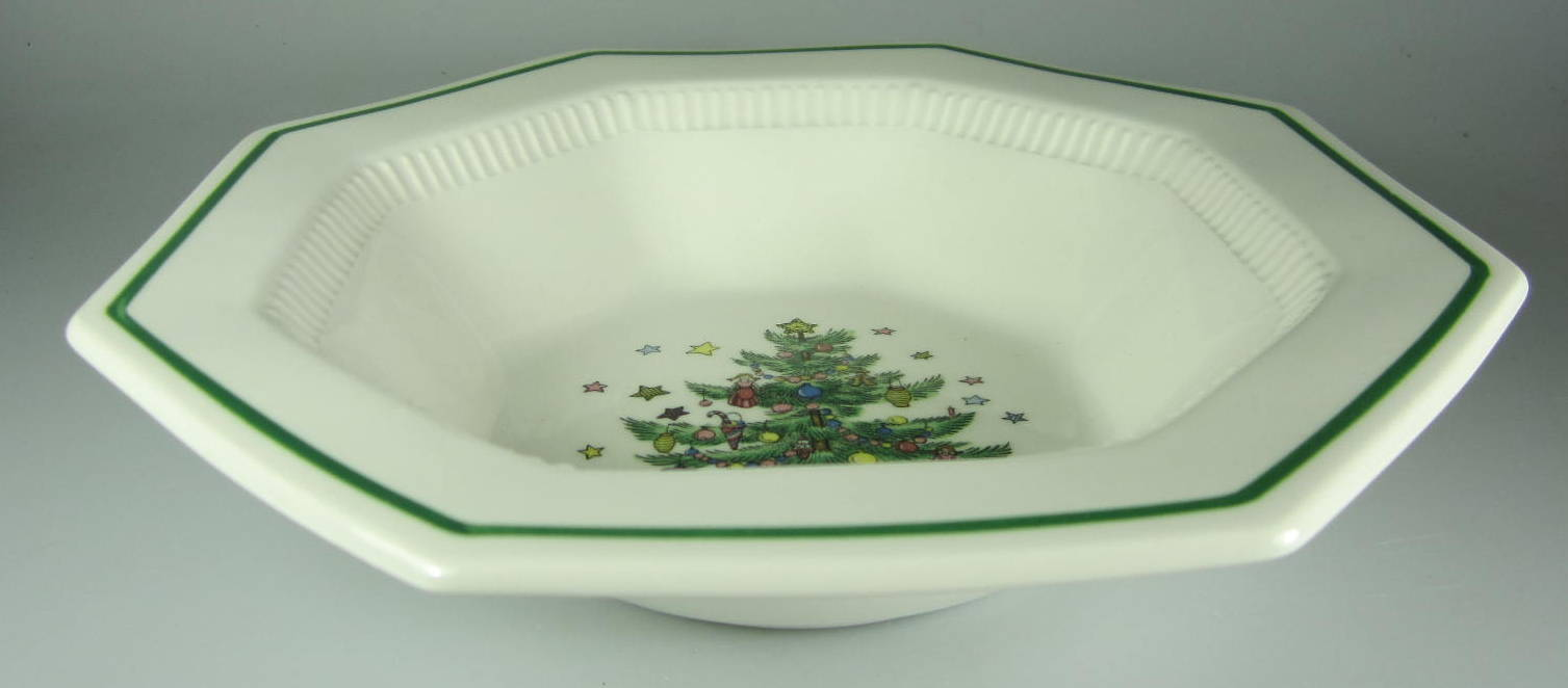 Make sure your browser can show photos and reload this page to see Nikko Dinnerware Christmastime 259 Round vegetable  9