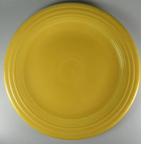 Make sure your browser can show photos and reload this page to see Homer Laughlin Co. Dinnerware Fiesta - Yellow (Older) Dinner plate  10 3/8