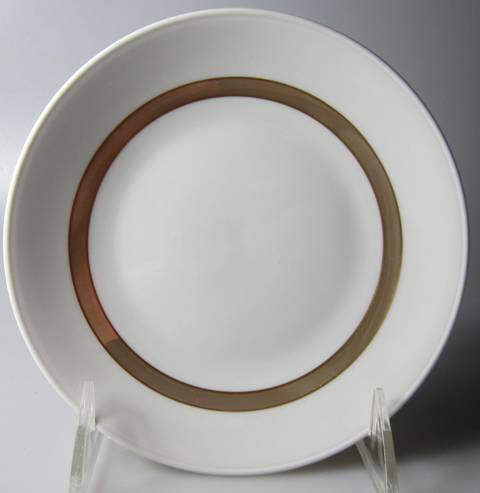 Make sure your browser can show photos and reload this page to see Rosenthal - Continental China Taupe Band Bread and butter plate  6