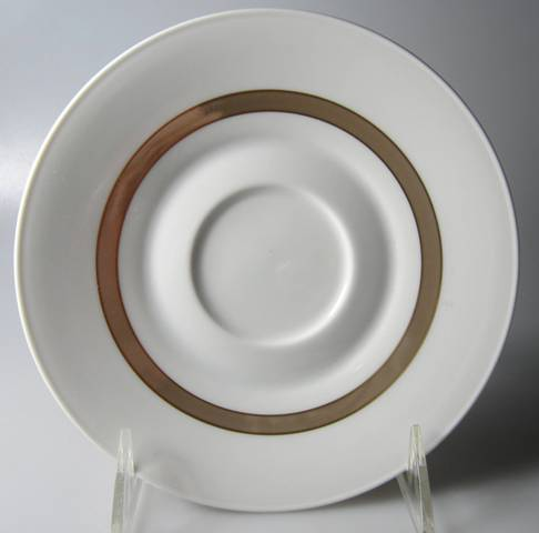 Make sure your browser can show photos and reload this page to see Rosenthal - Continental China Taupe Band Saucer only  6 3/8