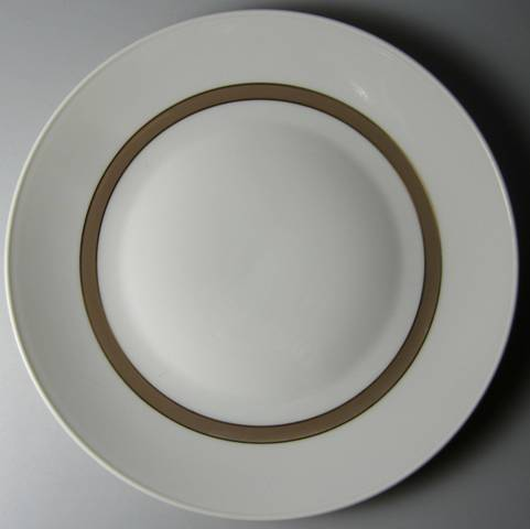 Make sure your browser can show photos and reload this page to see Rosenthal - Continental China Taupe Band Salad plate  7 5/8