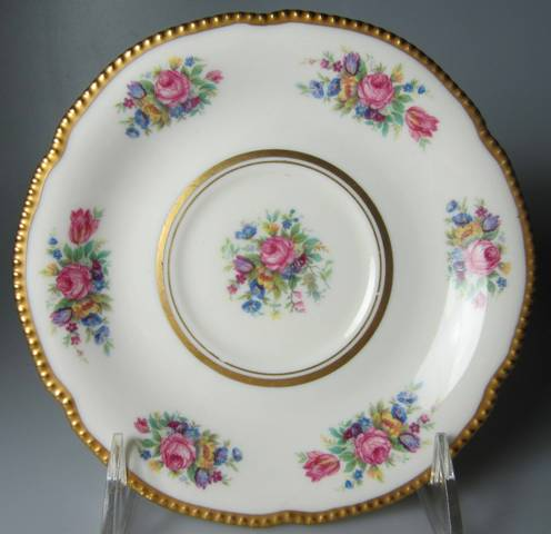 Make sure your browser can show photos and reload this page to see Castleton - USA China Castleton Rose  Saucer only  6 1/8