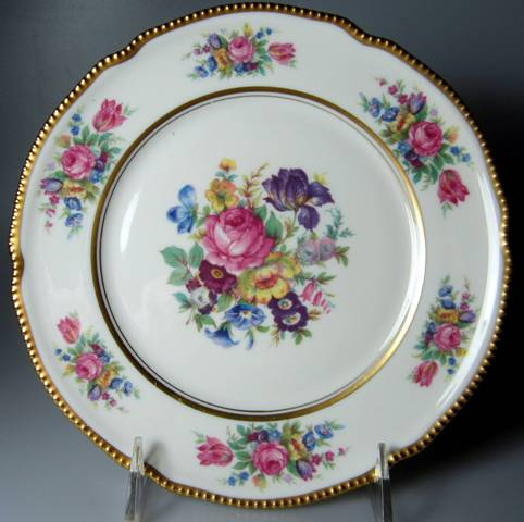 Make sure your browser can show photos and reload this page to see Castleton - USA China Castleton Rose  Salad plate  7 7/8