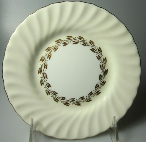 Make sure your browser can show photos and reload this page to see Minton China Cheviot - Gold S534 Bread and butter plate 6 1/4