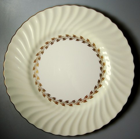 Make sure your browser can show photos and reload this page to see Minton China Cheviot - Gold S534 Dinner plate 10 5/8