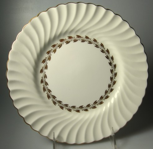 Make sure your browser can show photos and reload this page to see Minton China Cheviot - Gold S534 Luncheon plate 8 7/8