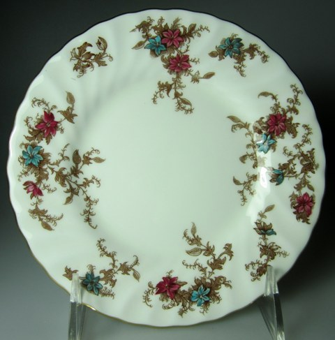 Make sure your browser can show photos and reload this page to see Minton China Ancestral S376 Bread and butter plate 6 1/4