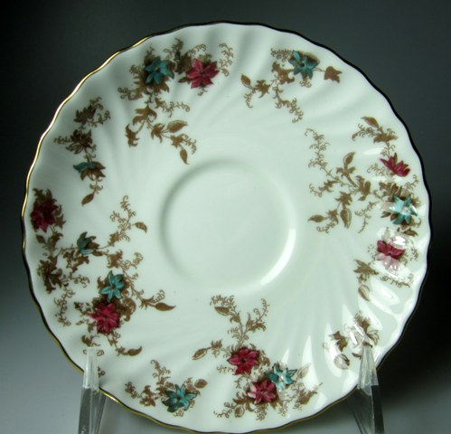 Make sure your browser can show photos and reload this page to see Minton China Ancestral S376 Saucer only 5 3/4