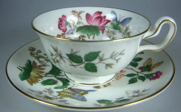 Make sure your browser can show photos and reload this page to see Wedgwood China Charnwood WD3984 Cup and saucer set  (peony shape - 2 1/8