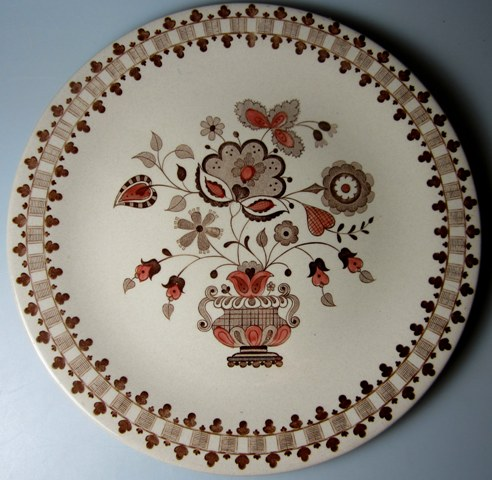 Make sure your browser can show photos and reload this page to see Johnson Brothers Dinnerware  Jamestown Dinner plate brown 10