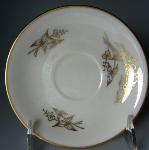 Make sure your browser can show photos and reload this page to see Lenox China Arrowhead T422 Saucer only 51/2
