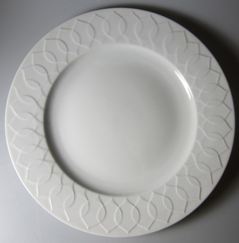 Make sure your browser can show photos and reload this page to see Rosenthal - Continental China Lotus - White Dinner plate  10 1/2