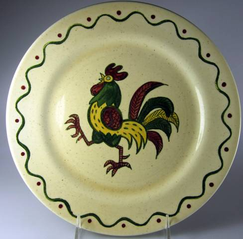 Make sure your browser can show photos and reload this page to see Metlox-Poppytrail-Vernon Pottery California Provincial Dinner plate   10