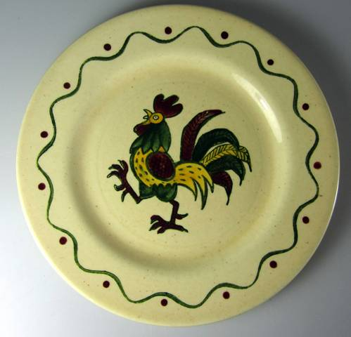 Make sure your browser can show photos and reload this page to see Metlox-Poppytrail-Vernon Pottery California Provincial Salad plate   7 1/2