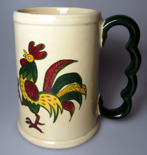 Make sure your browser can show photos and reload this page to see Metlox-Poppytrail-Vernon Pottery California Provincial Mug /GRAND MUG  (no lid)
