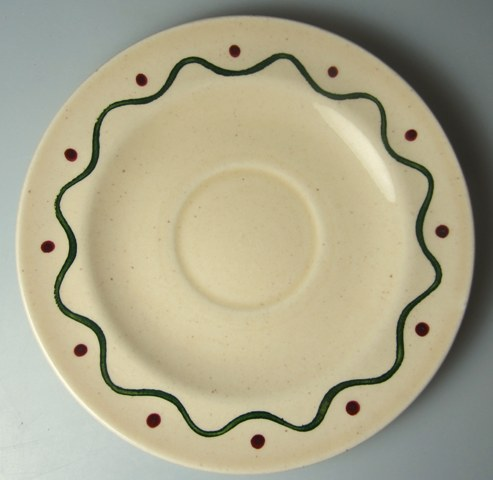 Make sure your browser can show photos and reload this page to see Metlox-Poppytrail-Vernon Pottery California Provincial Saucer only