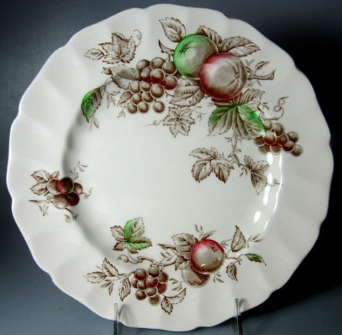 Make sure your browser can show photos and reload this page to see Johnson Brothers Dinnerware  Harvest Time Dinner plate 10