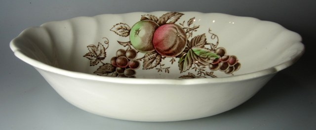 Make sure your browser can show photos and reload this page to see Johnson Brothers Dinnerware  Harvest Time Oval vegetable 8 7/8