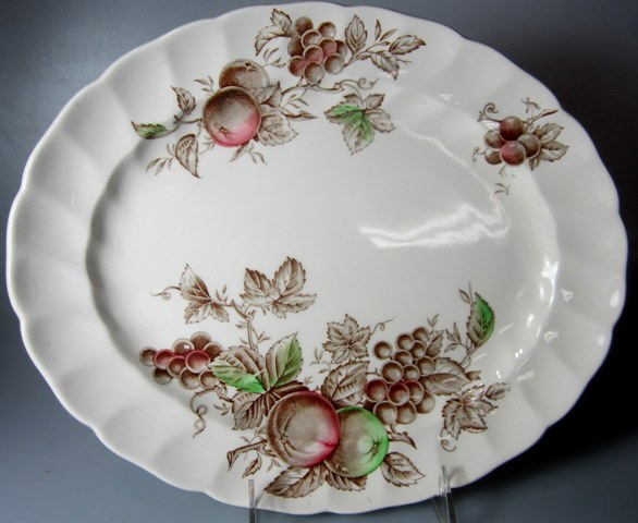 Make sure your browser can show photos and reload this page to see Johnson Brothers Dinnerware  Harvest Time Platter, small 11 3/4