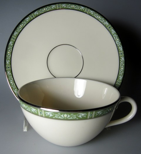 Make sure your browser can show photos and reload this page to see Lenox China Adrienne Cup and saucer set 4