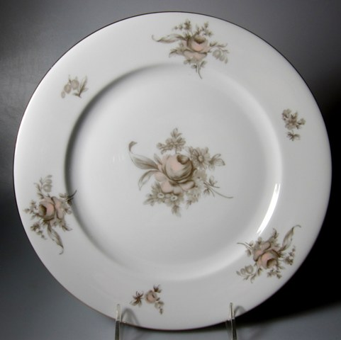 Make sure your browser can show photos and reload this page to see Rosenthal - Continental China Colonial Rose Dinner plate 10 1/2