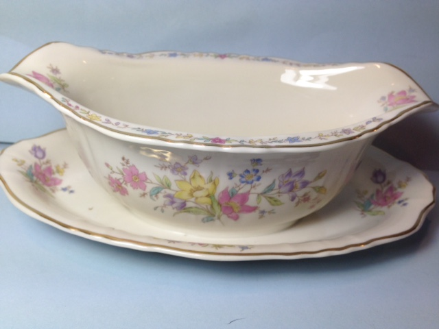 Make sure your browser can show photos and reload this page to see Syracuse China Briarcliff Gravy-attached stand