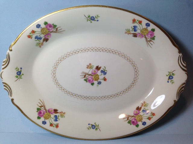 Make sure your browser can show photos and reload this page to see Syracuse China Coventry Platter, large --16