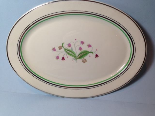 Make sure your browser can show photos and reload this page to see Syracuse China Coralbel Platter, small --12