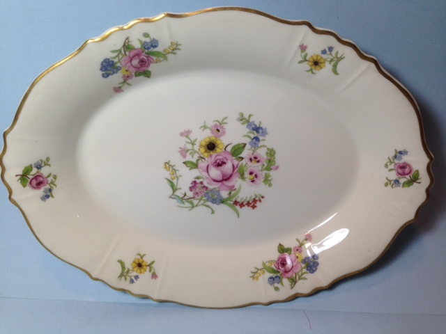 Make sure your browser can show photos and reload this page to see Syracuse China Portland Platter, medium --14