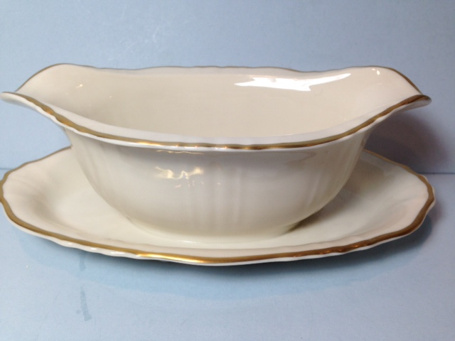 Make sure your browser can show photos and reload this page to see Syracuse China Brantley Gravy-attached stand