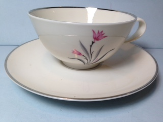 Make sure your browser can show photos and reload this page to see Syracuse China Alpine Cup and saucer set