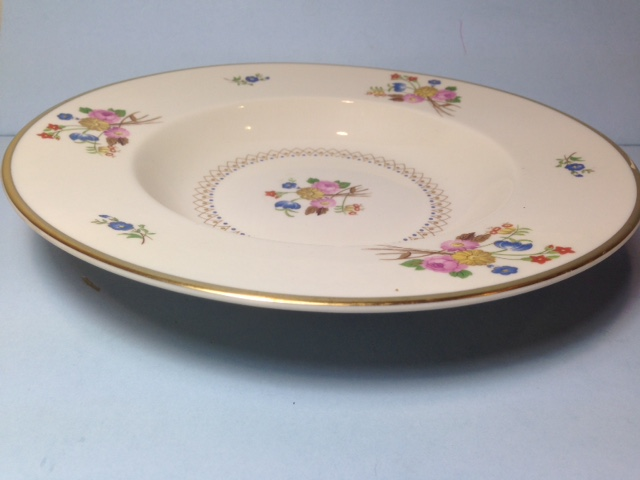 Make sure your browser can show photos and reload this page to see Syracuse China Coventry Soup bowl, rim shape