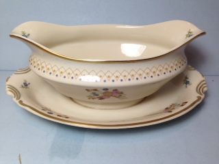 Make sure your browser can show photos and reload this page to see Syracuse China Coventry Gravy-attached stand
