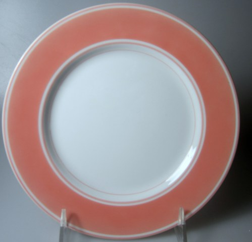 Make sure your browser can show photos and reload this page to see Fitz & Floyd China Rondelet - Peach Salad plate  7 1/2