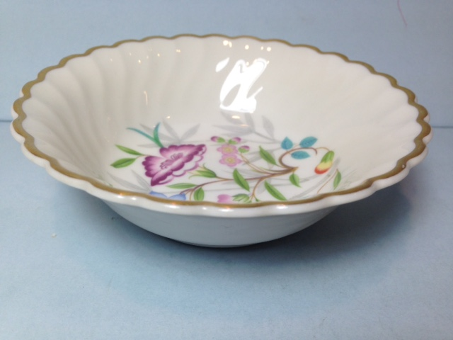 Make sure your browser can show photos and reload this page to see Syracuse China Jewel Tree Fruit/dessert bowl
