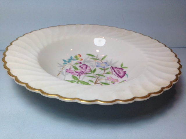 Make sure your browser can show photos and reload this page to see Syracuse China Jewel Tree Soup bowl, rim shape