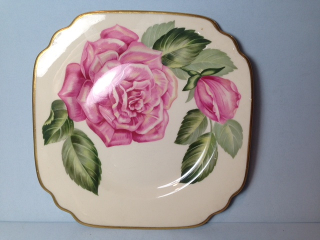 Make sure your browser can show photos and reload this page to see Syracuse China Floral Accent Plat Accent plate --The Rose